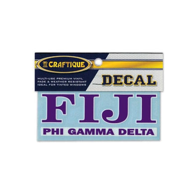 FIJI Greek Letter Decal