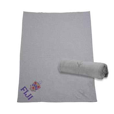 FIJI Heather Gray Sweatshirt Blanket