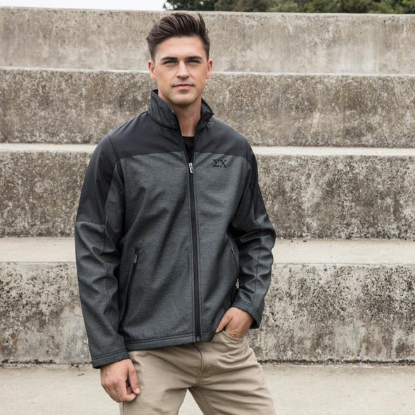 New! SigEp Fossa Slate Soft Shell Jacket