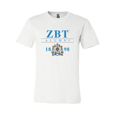 New! ZBT Alumni Crest Short Sleeve Tee