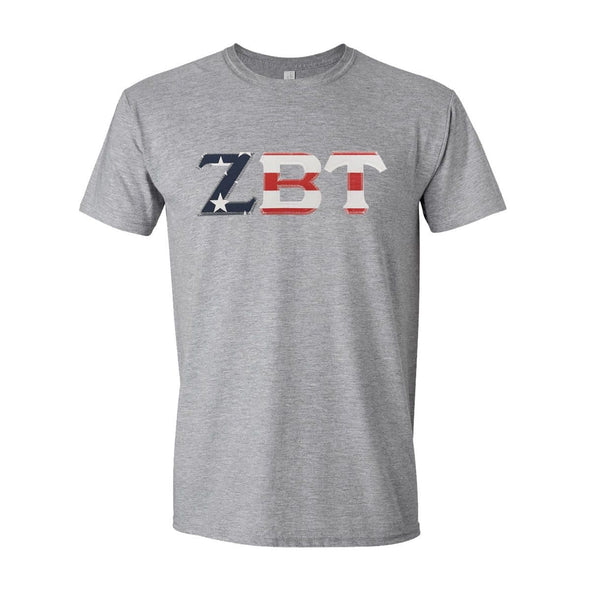 ZBT Stars & Stripes Sewn On Letter Tee