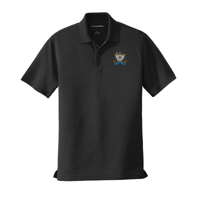 ZBT Crest Black Performance Polo