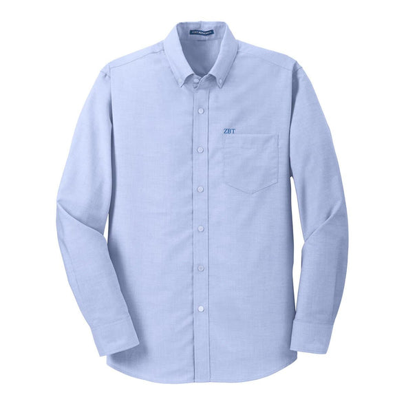 Sale! Zeta Beta Tau Light Blue Button Down Shirt