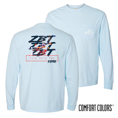 ZBT Comfort Colors Chambray Long Sleeve Urban Tee