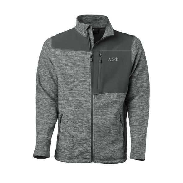 Clearance! Delta Sig Gray Thermo Fleece Jacket