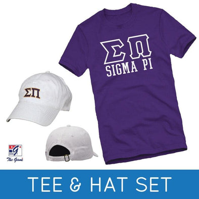 Sale! Sigma Pi Tee & Hat Gift Set