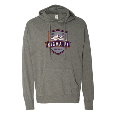 New! Sigma Pi Lightweight Mountain T-Shirt Hoodie