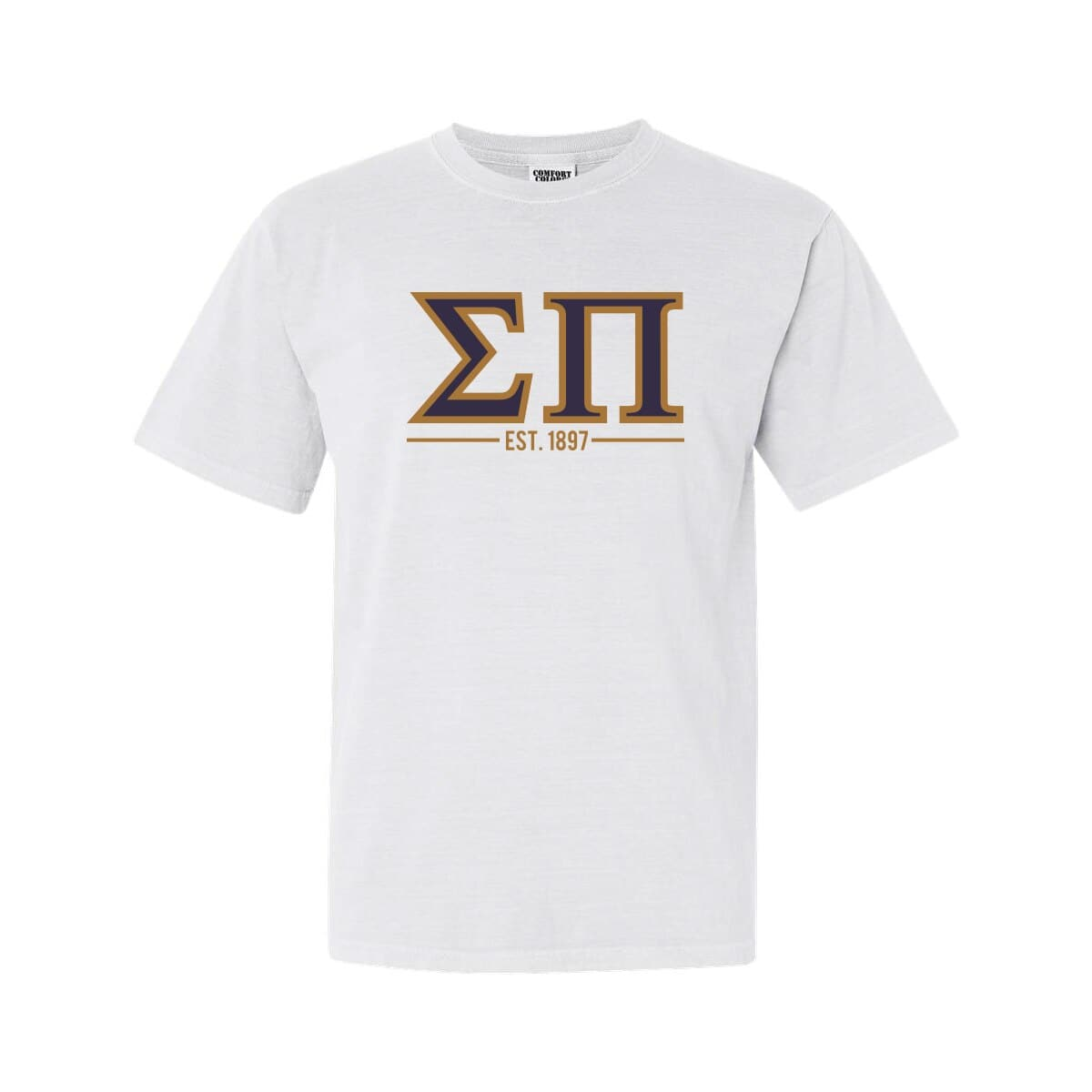 Greek Letter Before Kappa.Sigma Pi White Comfort Colors Greek Letter Tee