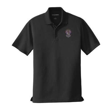 New! Sigma Pi Crest Black Performance Polo