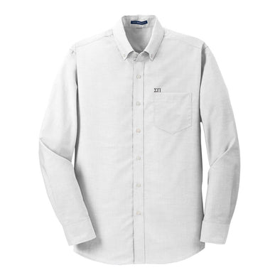 Sale! Sigma Pi White Button Down Shirt