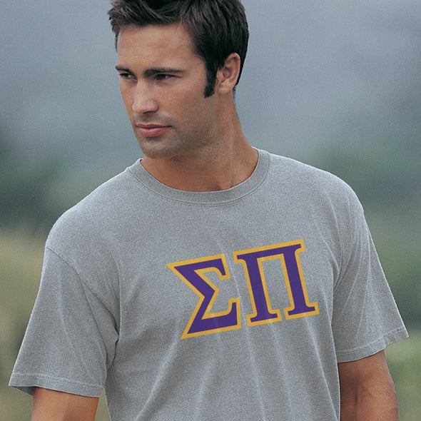Sigma Pi Heather Gray Greek Letter Tee