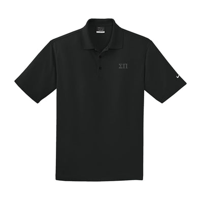 Sigma Pi Black Nike Performance Polo