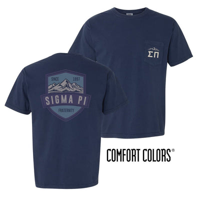 Sigma Pi Comfort Colors Mountain Pocket Tee