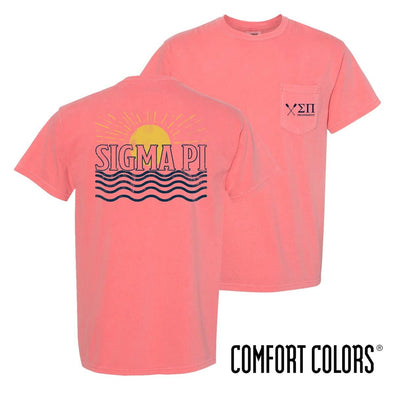 New! Sigma Pi Comfort Colors Short Sleeve Sun Tee