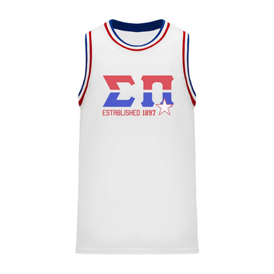 Sigma Pi Retro Block Basketball Jersey