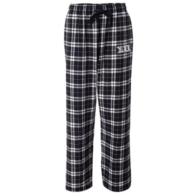 Sigma Pi Black Plaid Flannel Pants