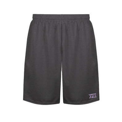 Sigma Pi Charcoal Performance Shorts