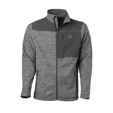Clearance! Sigma Pi Gray Thermo Fleece Jacket