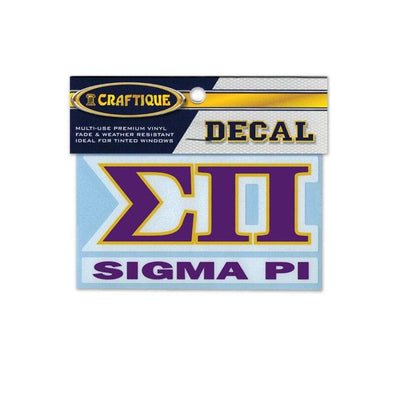 Sigma Pi Greek Letter Decal