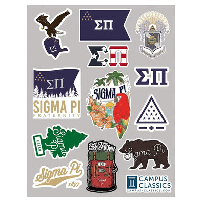 New! Sigma Pi Sticker Sheet