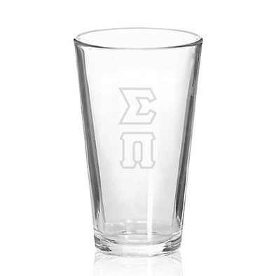 Sale! Sigma Pi Engraved Fellowship Glass