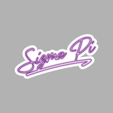 New! Sigma Pi Neon Sticker