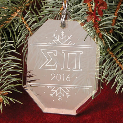 Clearance Priced! Sigma Pi 2016 Holiday Ornament