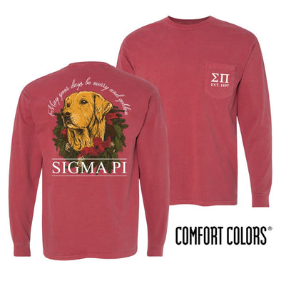 Sigma Pi Crimson Comfort Colors Retriever Tee