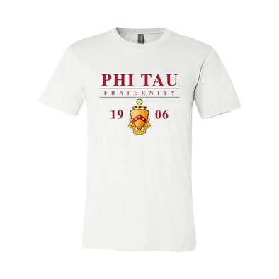 New! Phi Tau Classic Crest Short Sleeve Tee