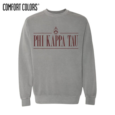 Phi Tau Gray Comfort Colors Crewneck