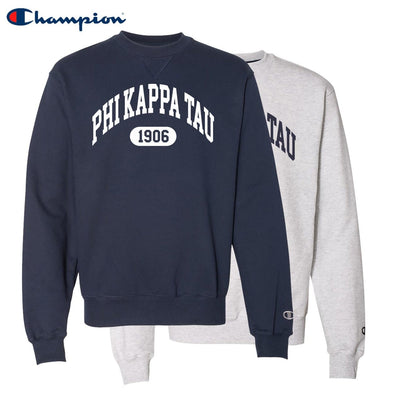 New! Phi Tau Heavyweight Champion Crewneck Sweatshirt