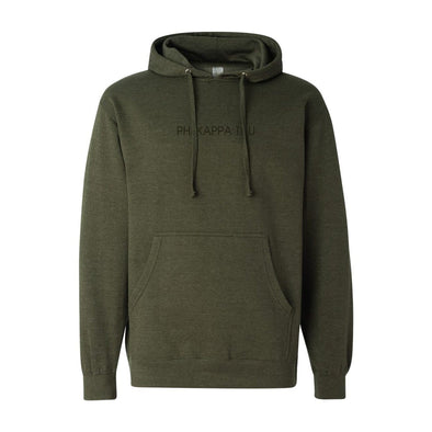 New! Phi Tau Army Green Title Hoodie