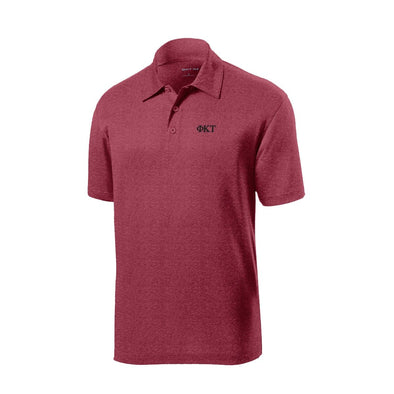 Phi Tau Heather Cardinal Performance Polo
