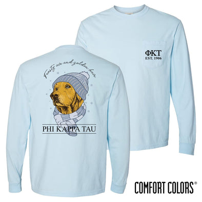 Phi Tau Comfort Colors Winter Retriever Tee