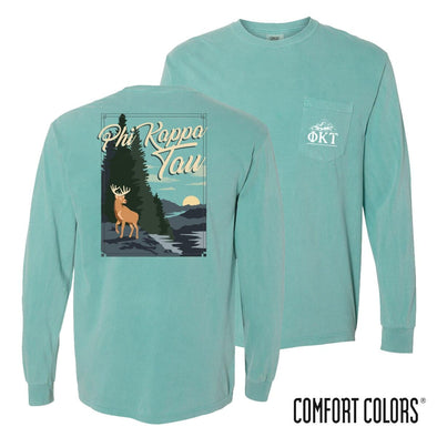 New! Phi Tau Comfort Colors Deer Tee