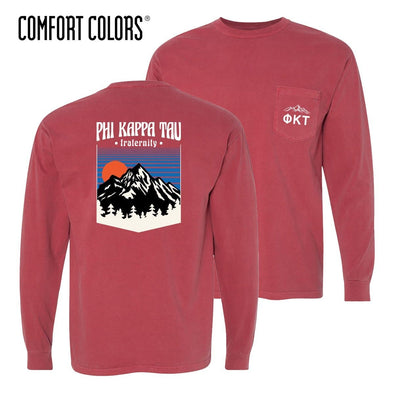 New! Phi Tau Comfort Colors Long Sleeve Retro Alpine Tee