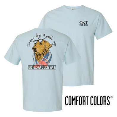 Phi Tau Blue Comfort Colors Retriever Tee