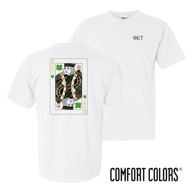 Phi Tau Comfort Colors White Short Sleeve Clover Tee