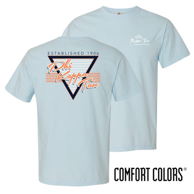 Phi Tau Comfort Colors Retro Flash Tee