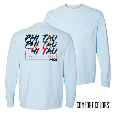 Phi Tau Comfort Colors Chambray Long Sleeve Urban Tee