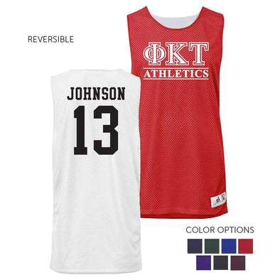 Phi Tau Personalized Intramural Athletics Reversible Mesh Tank