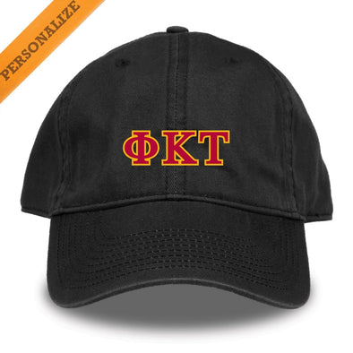 Phi Tau Personalized Black Hat