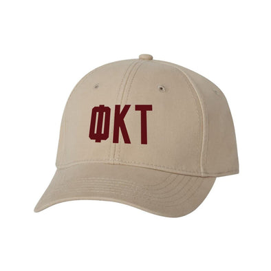Phi Tau Structured Greek Letter Hat