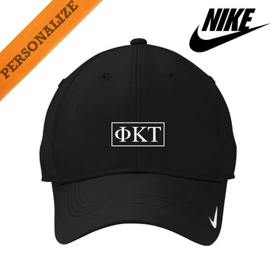 Phi Tau Personalized Black Nike Dri-FIT Performance Hat