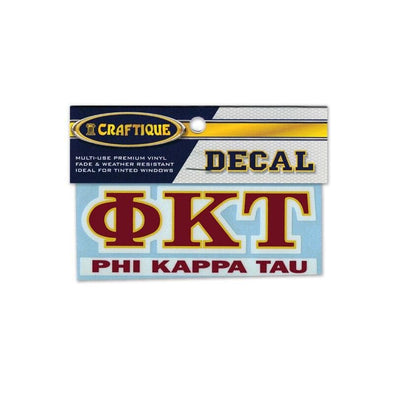 Phi Tau Greek Letter Decal