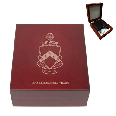 Sale! Phi Tau Personalized Rosewood Box