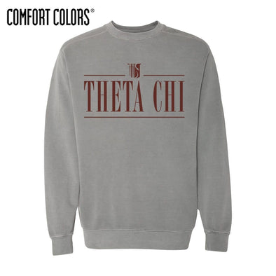 Theta Chi Gray Comfort Colors Crewneck