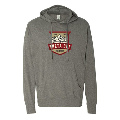 Clearance!  Theta Chi Lightweight Mountain T-Shirt Hoodie