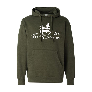 Theta Chi Army Green Wilderness Hoodie