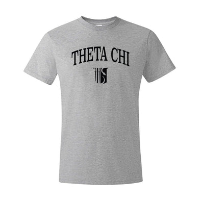 New! Theta Chi Heather Gray Symbol Tee